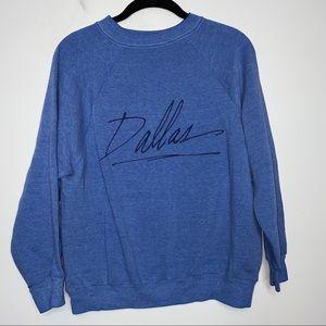 Vtg Dallas Heather Blue Sweatshirt Size M